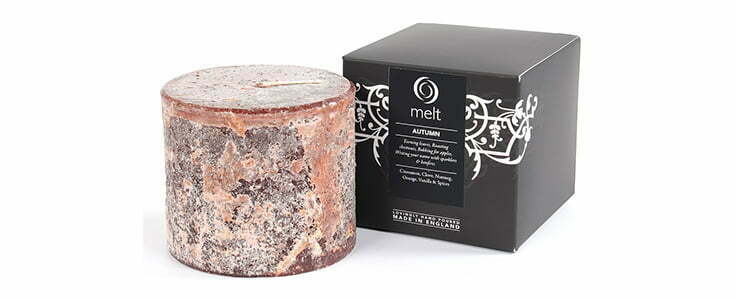 Autumn scented candle at Melt