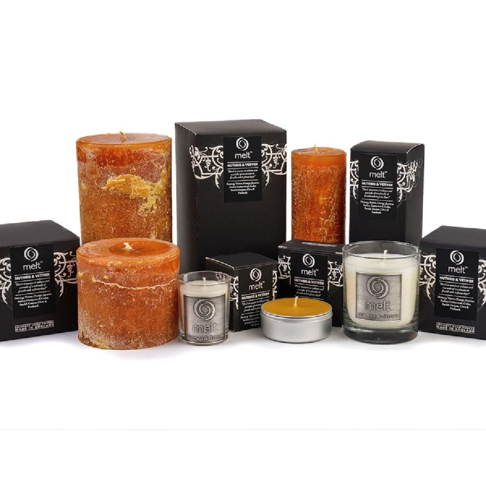 Nutmeg & Vetiver Scented Candles
