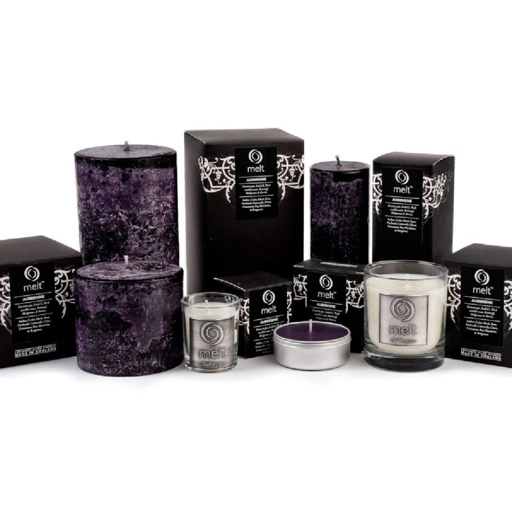 Aubergine Scented Candles