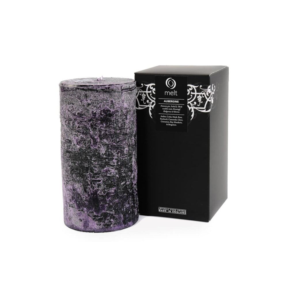 Aubergine Tall & Fat Candle