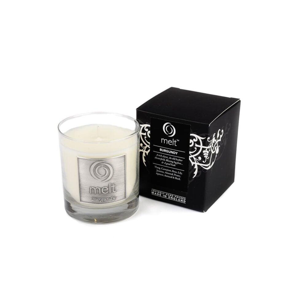 Burgundy Luxury Glass Jar Candle