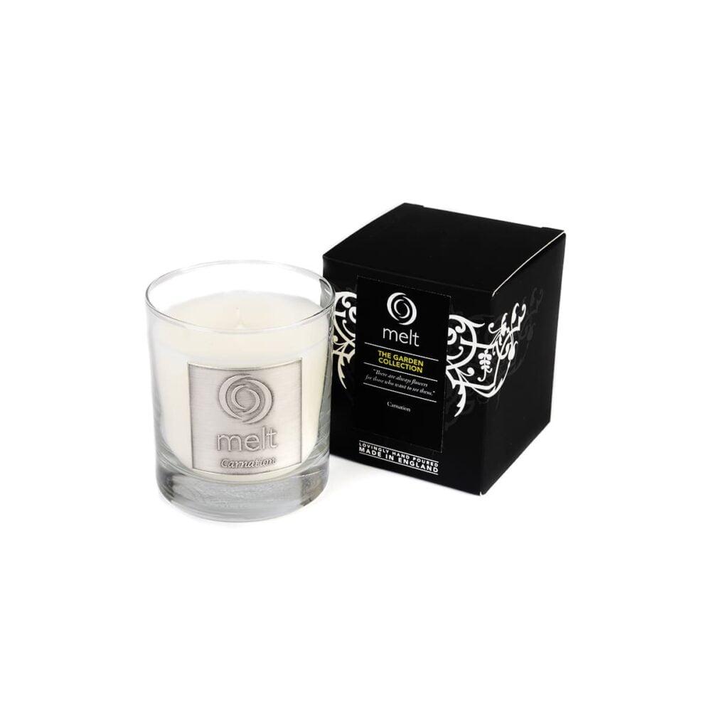 Carnation Luxury Glass Jar Candle