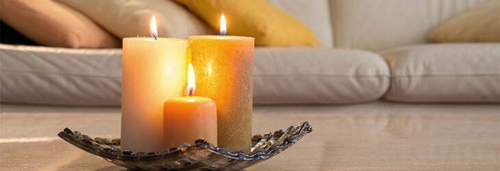 Using candles as home accents