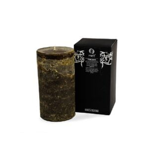 Dark Wood Tall & Fat Scented Candle