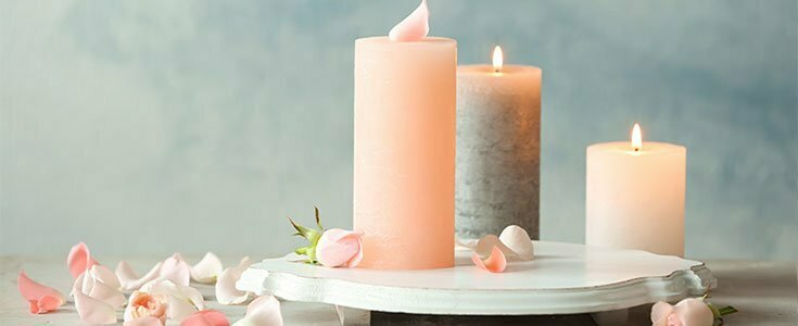 melt pink scented candle